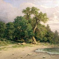 Пейзаж с деревом gt